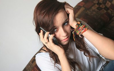Girl on hold