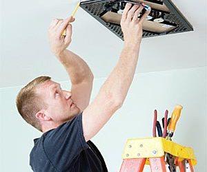 Ceiling speaker install